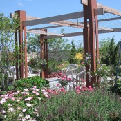 The Rose Garden Bower is frequently rented for small weddings.